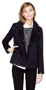 J.Crew Leather Pea Pea Coat