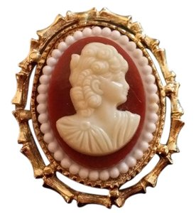 Other Vintage Gold Cameo Brooch/Charm