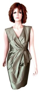 Evan Picone Sleeveless Shantung Sheath Dress