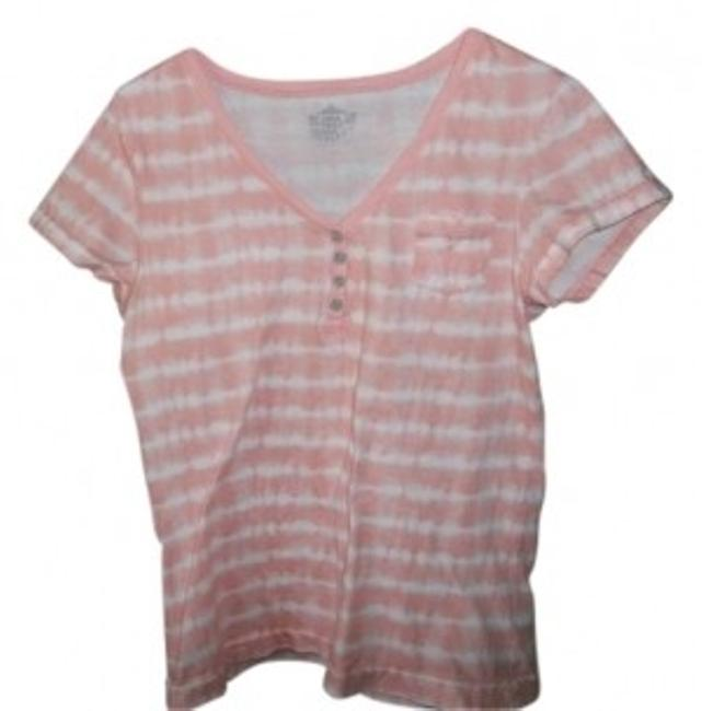 Preload https://img-static.tradesy.com/item/12498/route-66-peach-and-white-striped-tee-shirt-size-14-l-0-0-650-650.jpg