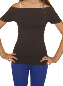 Nikibiki Short Sleeve Off Charcoal Seamless Top Gray