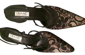 Isaac Mizrahi black/beige lace Pumps