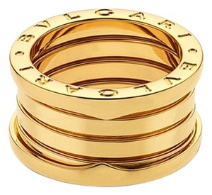 BVLGARI Bvlgari B.Zero1 18K Yellow Gold 4 Band Ring AN191025 US 9.25