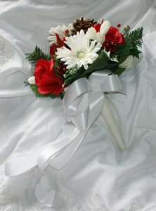 Wonderful Silk Christmas Bridal Bouquet