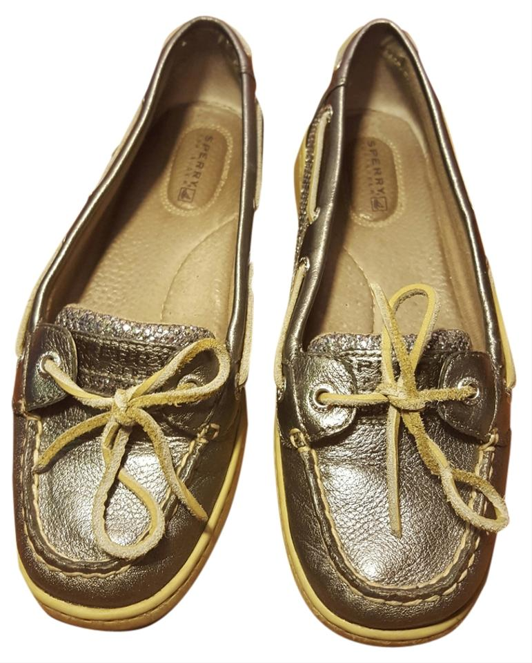 Sperry Pewter Charcoal Glitter Angelfish Pewter Charcoal Flats Size Us 7 Regular M B 65 Off Retail