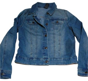 Faded Glory Fall Winter Spring Denim Jean Blue Denim Jacket