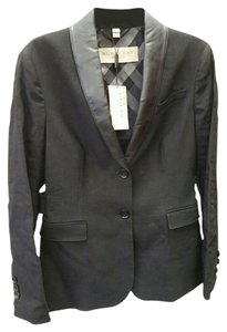 Burberry Brit Wicksby Leather-collar Black Blazer