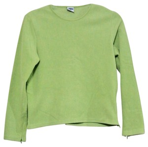Old Navy Zipper Crewneck Longsleeve Lime Bright Fall Ladies Casual Sweater