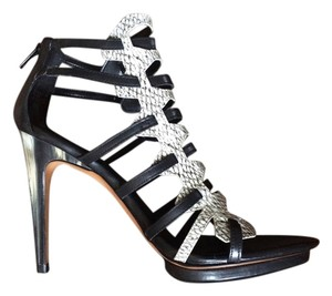 Luxury Rebel Black/Latte/Python Sandals