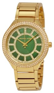 Michael Kors Crystal Pave Gren Dial Gold tone Stainless Steel Designer Watch