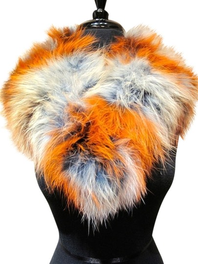 C-Fan Furs CFan Fur Collar in Terra Cotta, Black, and Cream