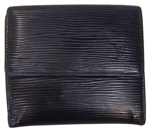 Louis Vuitton LV Elise Wallet In Black Epi Leather