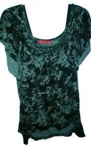 Elle Top Black and Gray