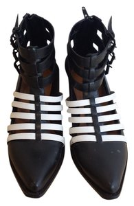 Nasty Gal Shoe Cult Black and white Boots