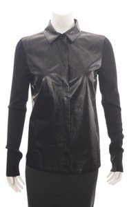 Gucci Wool Silk Cashmere Button Down Shirt Black