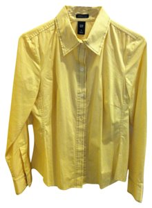 GAP Button Down Shirt yellow with black stitching