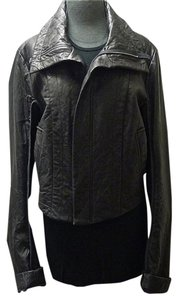 Jarbo Motorcycle Moto Chic High Fashion High Neck High Collar Leather Jacket