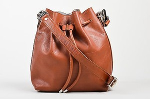 Proenza Schouler Rust Leather Bucket W Pouch Cross Body Bag