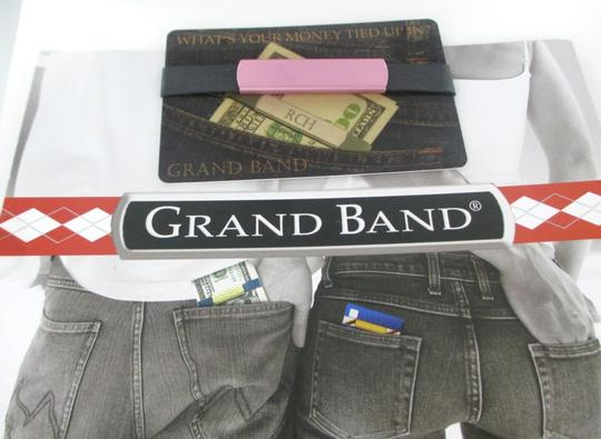 GRAND BAND GRAND BAND MONEY CLIP PINK ANNODIZED ALUMINUM GB1800/PK WITH EXTRA BANDS IN BOX