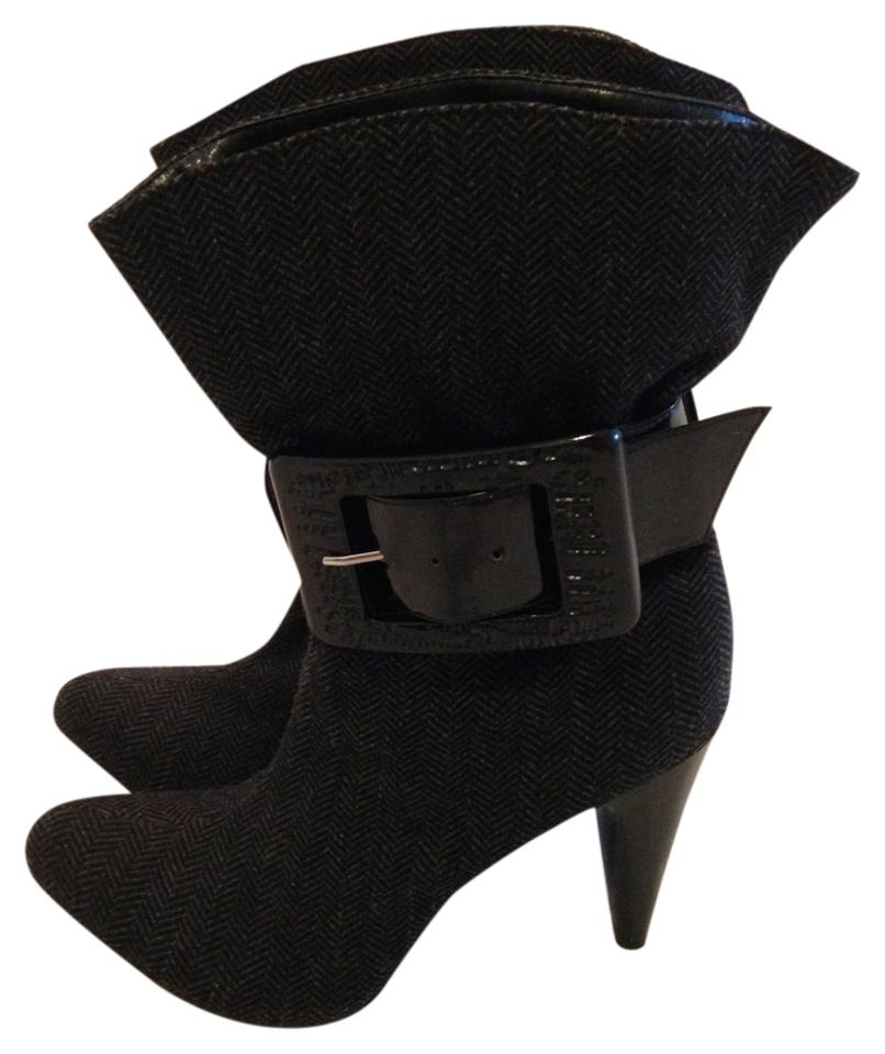 b89d1acf9a Jessica Simpson Gray Makan Belted Ankle Boots/Booties Size US 8 ...