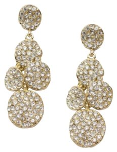 T&J Designs SUMMER CLEARANCE Gold Pave Crystal Dangle Earrings