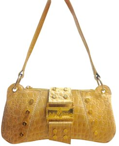 Baby Phat Snake Skin Gold Hardware Shoulder Bag