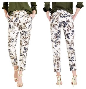 J.Crew Capri/Cropped Pants Gold Foil Leaf