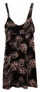 Banana Republic short dress Beige Black Floral on Tradesy
