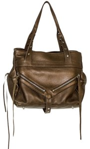 Botkier Leather Satchel in gold bronze