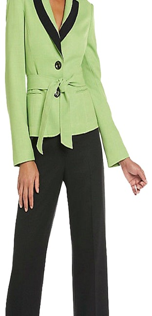 Item - Citrine Green/Black Tuileries New Womens Long Sleeves 2pc Pant Suit Size 16 (XL, Plus 0x)
