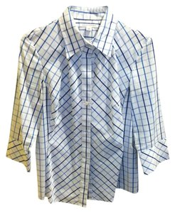 Banana Republic Button Down Shirt blue & white checked