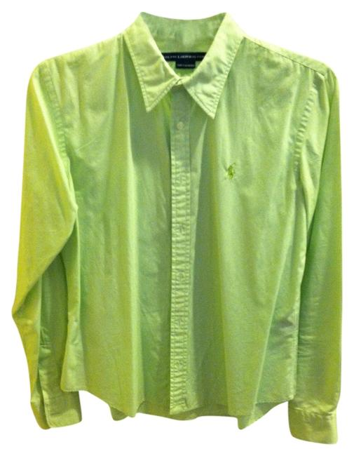 Preload https://item1.tradesy.com/images/ralph-lauren-lime-green-button-down-top-size-10-m-1250625-0-0.jpg?width=400&height=650