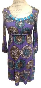 Boden short dress Purple, turquoise , black, yellow Vibrant Embellished on Tradesy