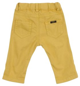 Fendi Straight Pants Yellow