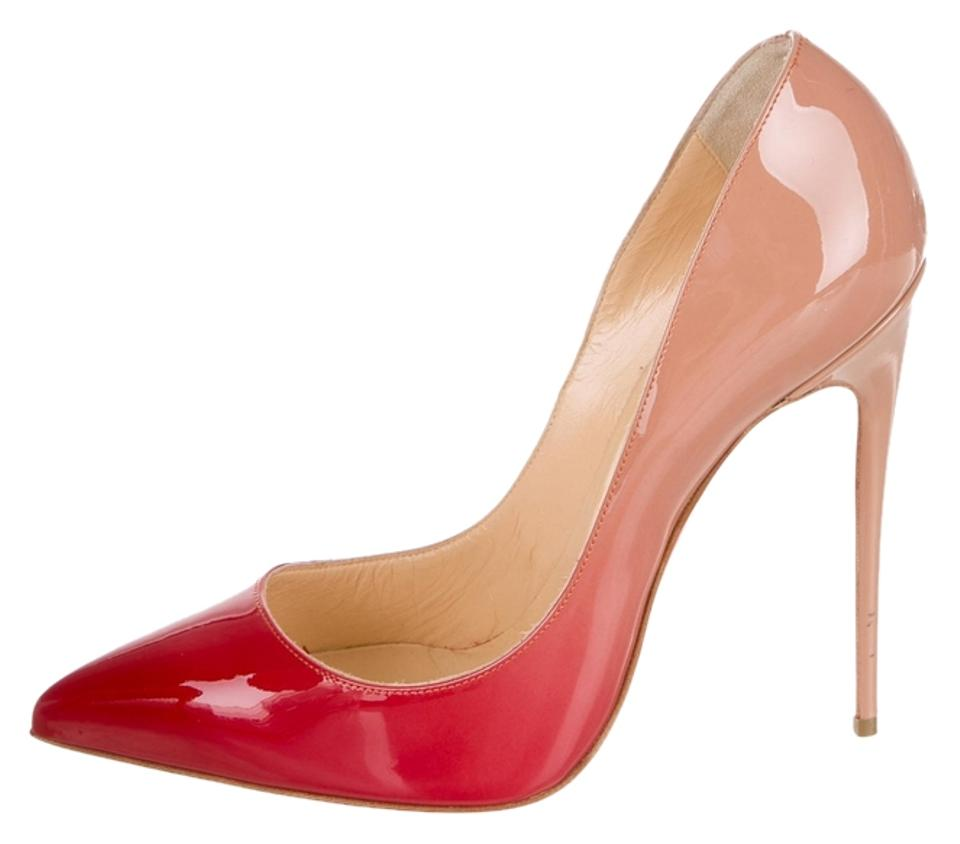 be8490eae16a Christian Louboutin Patent Leather Ombre So Kate Pointed Toe Hot Chick Red