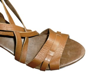 Saks Fifth Avenue Brown Wedges