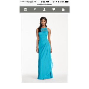 David's Bridal Malibu Blue Dress