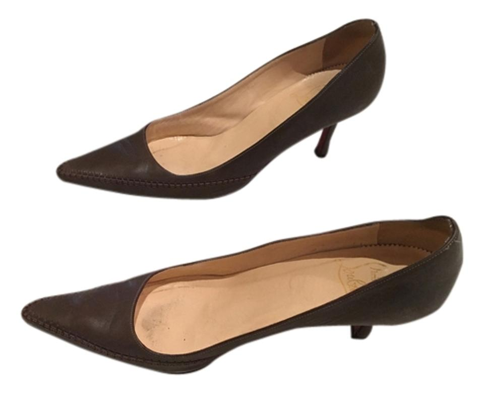 Women's Christian Louboutin Brown Pumps New New Pumps c3cb02