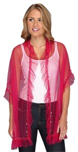 Betsey Johnson Betsey Johnson Tulle wrap/ scarf with sequined trim