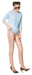 COLLECTION CAFÉ CAPRI IN QUARTZ JACQUARD Capri/Cropped Pants Pink/Gold