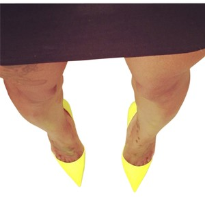 Christian Louboutin So Kate Fluorescent Bright Neon Green Yellow Pumps