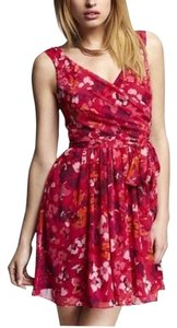 Express short dress Floral Chiffon Spring on Tradesy