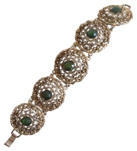 Vintage gold and green bracelet