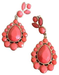 Other Coral enamel statement earrings