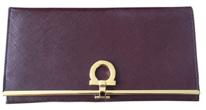 Salvatore Ferragamo Rouge Noir Clutch