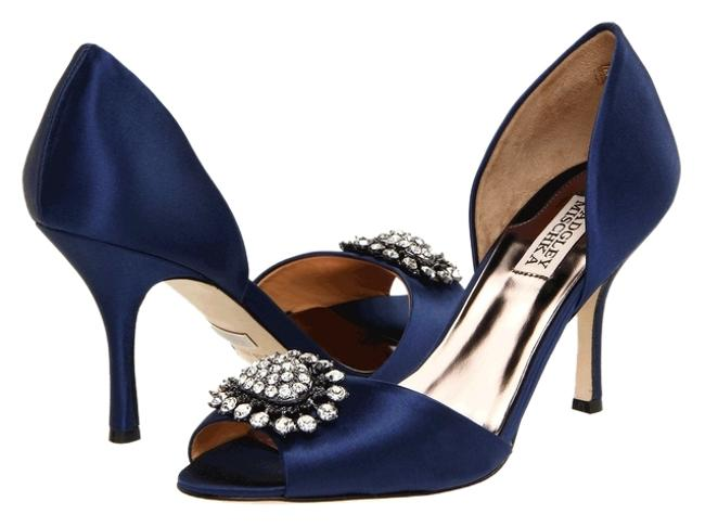 Item - Navy Blue Satin Pumps Lacie D'orsay Formal Shoes Size US 6.5 Narrow (Aa, N)