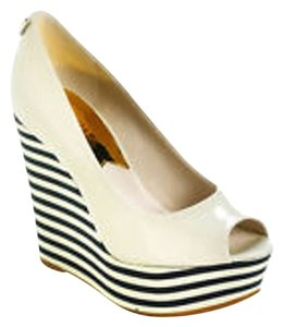 Michael Kors Peep Toe Wedge Vanilla Wedges