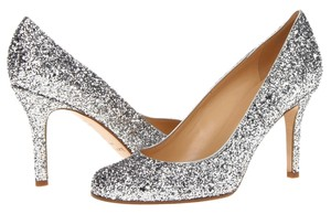 Kate Spade New York Glitter Size 8 silver Pumps
