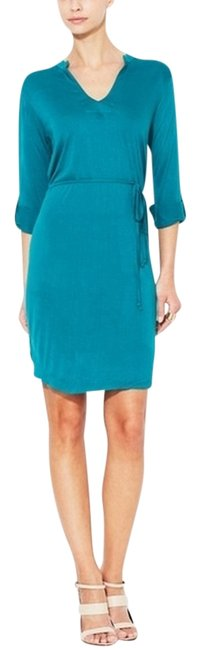 Item - Deep Green Belted Tunic Mid-length Work/Office Dress Size 8 (M)