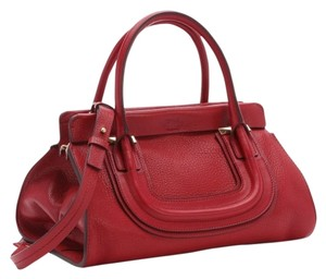 Chloé Satchel in Acerola Red